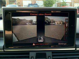 Audi front view camera retrofit