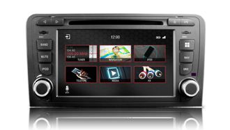 N7 - A3, Audi GPS, Navigation, Bluetooth, iPod, DVD, USB